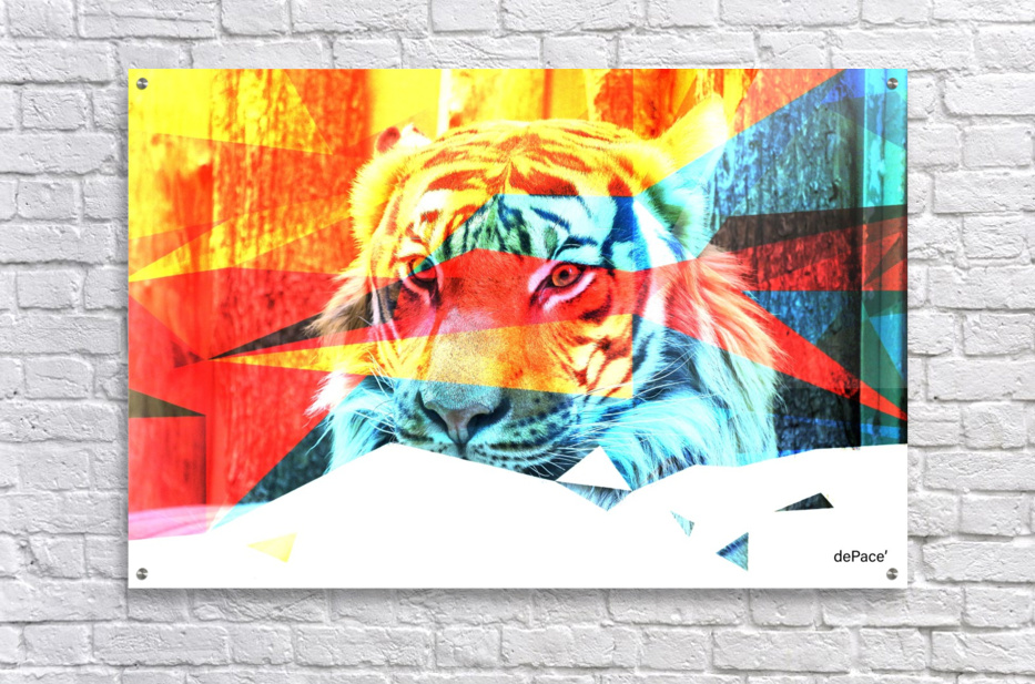 TIGER IN ABSTRACT FORM  Acrylic Print