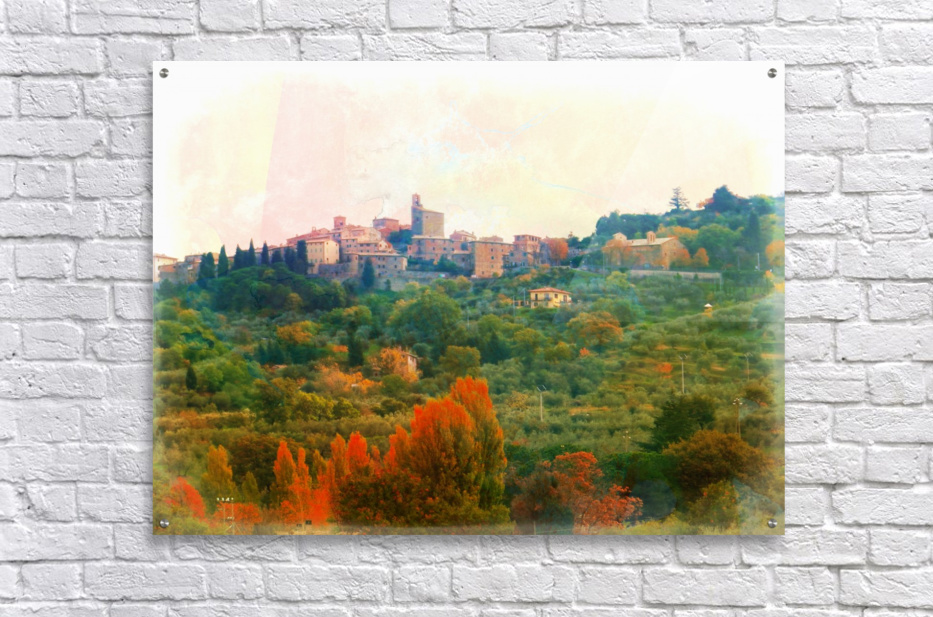 Panicale in Fall  Acrylic Print