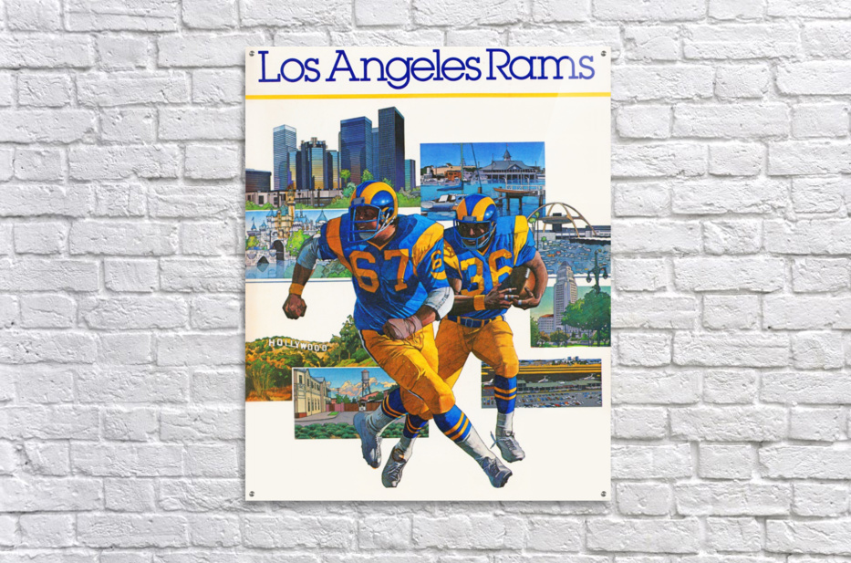 1982 la rams downtown los angeles hollywood poster  Acrylic Print