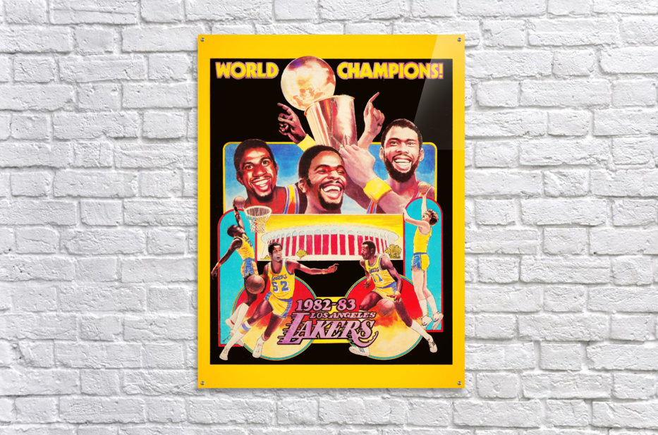 1982 LA Lakers Champion Poster  Acrylic Print