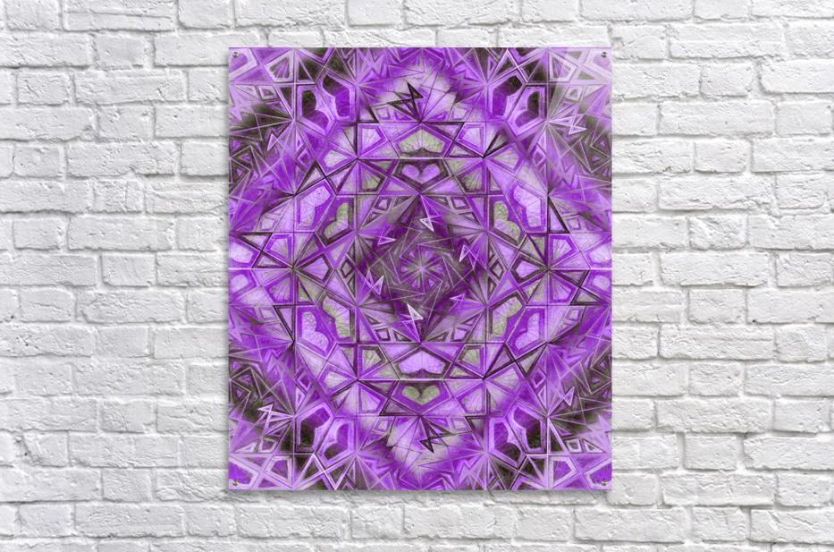 Purple Fractal Kaleidoscope Handdrawing  Acrylic Print