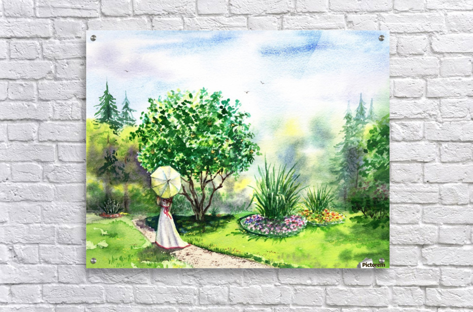 Strolling In The Garden  Acrylic Print