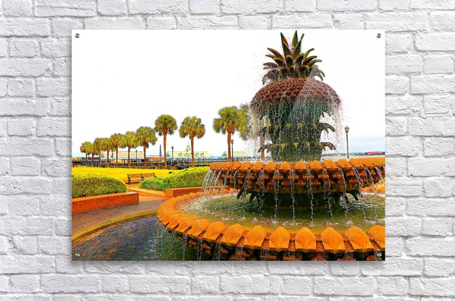 Pineapple Fountain - Charleston SC  Acrylic Print
