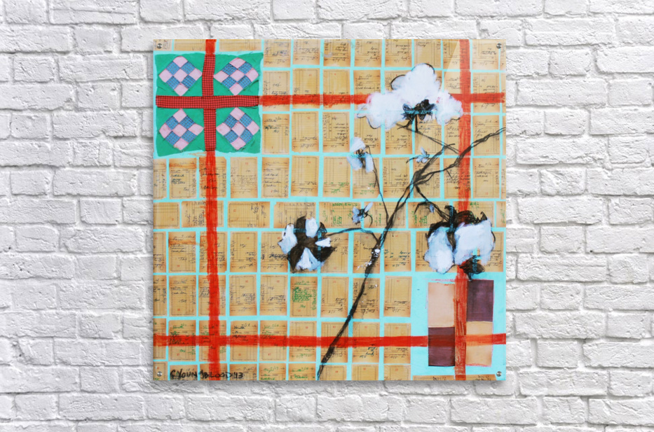 Louisiana Quilt with Cotton  and Vintage Company Store Receipts  Acrylic Print