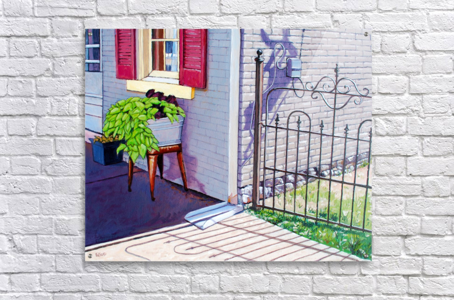 Red Shutters  Acrylic Print