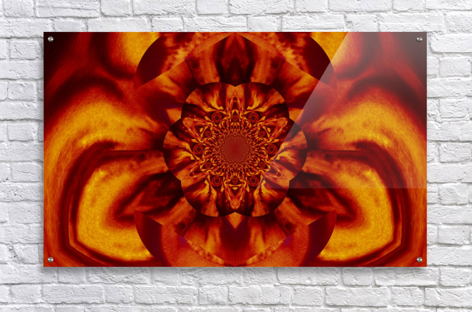 Lotus in Gold Satin  Acrylic Print