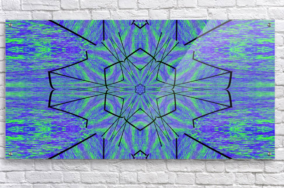 Light Of The Blue Moon Lotus  Acrylic Print