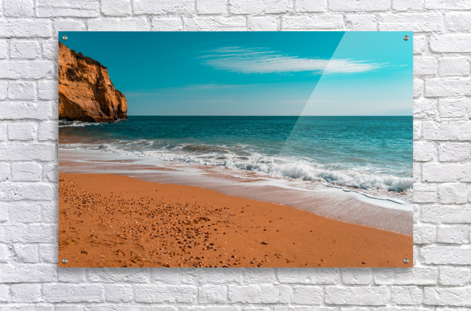 Ocean Beach in Teal and Orange  Acrylic Print