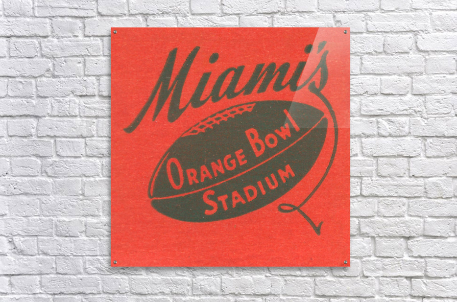 1950 Miami Orange Bowl  Acrylic Print