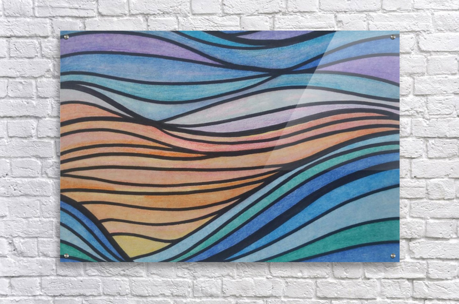 TealTide  Acrylic Print