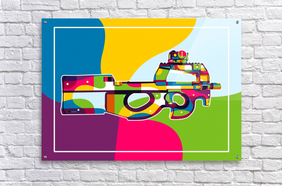 FN P90 Pop Art  Acrylic Print