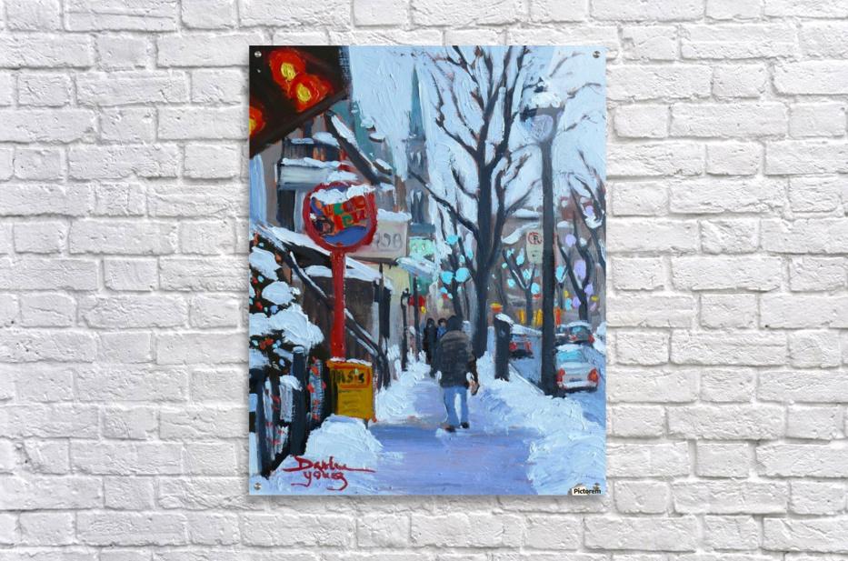 Montreal Winter St-Denis  Acrylic Print