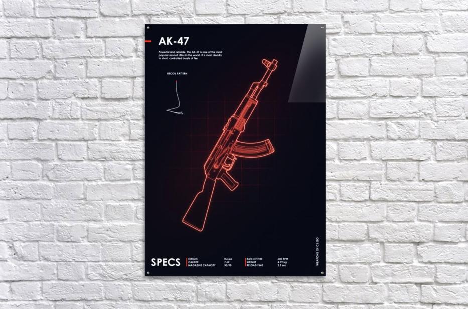 AK-47 CSGO WEAPON  Acrylic Print