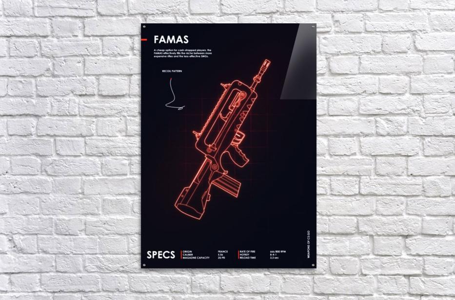 FAMAS CSGO WEAPON  Acrylic Print