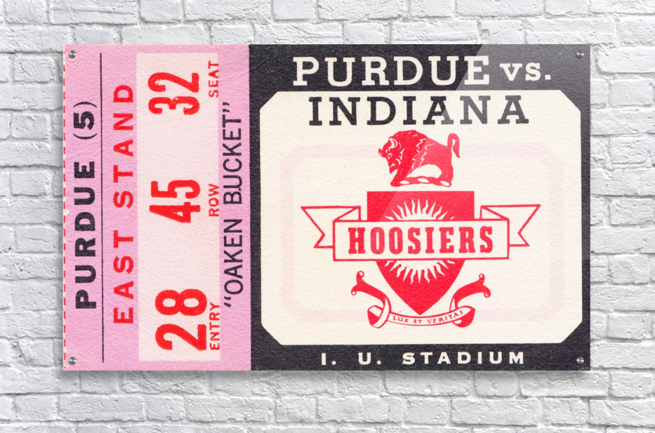 Vintage Indiana Hoosiers Football Ticket Stub  Acrylic Print