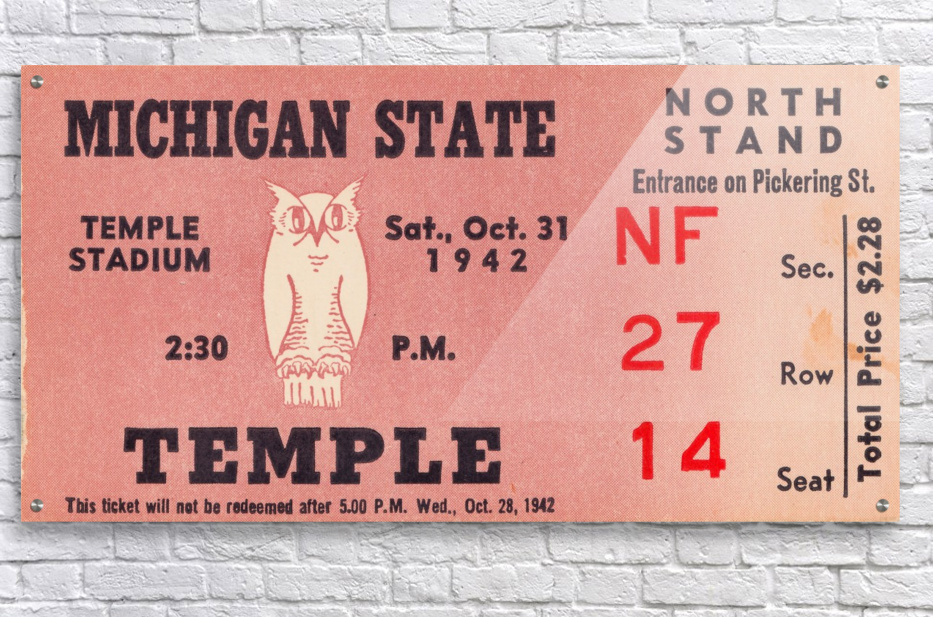 1942 Michigan State vs. Temple  Acrylic Print