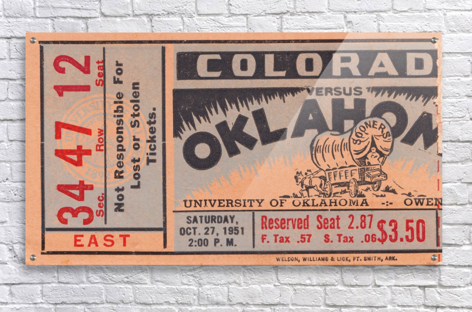 1951 Oklahoma vs. Colorado  Acrylic Print