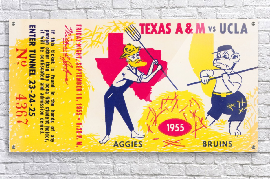 1955 UCLA vs. Texas  Acrylic Print