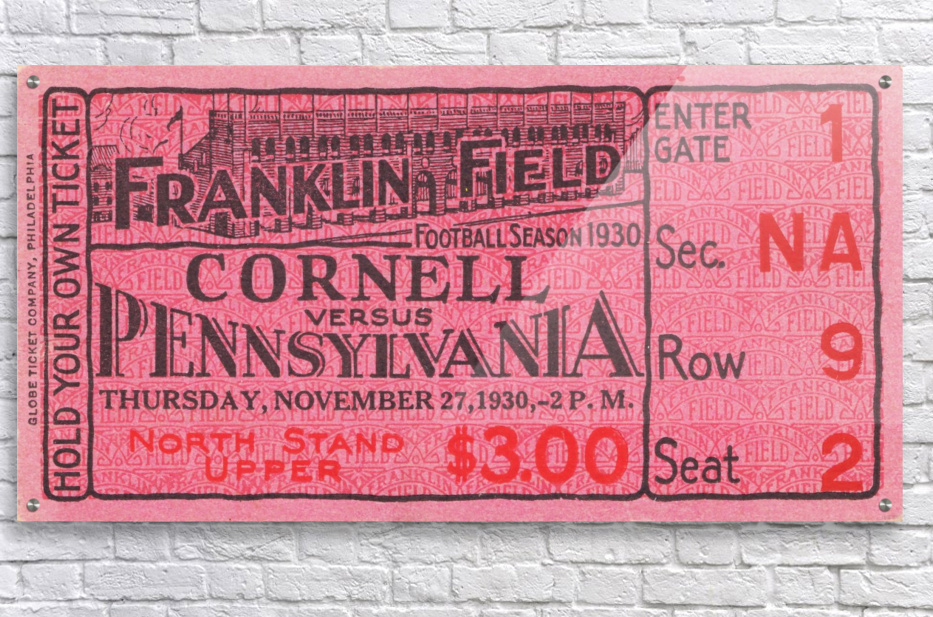 1930 Cornell vs. Penn  Acrylic Print