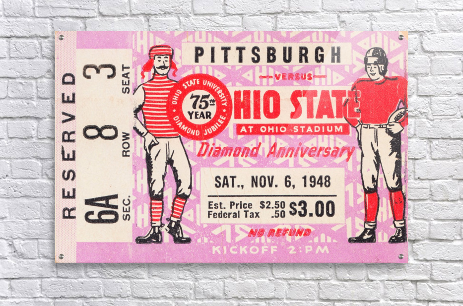 1948 Ohio State vs. Pittsburgh   Acrylic Print