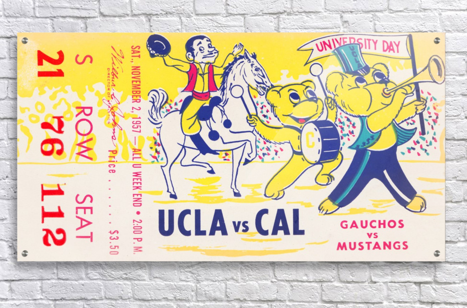 1957 UCLA vs. California   Acrylic Print