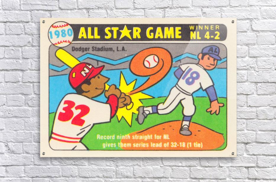1980 Baseball All Star Game Art  Acrylic Print