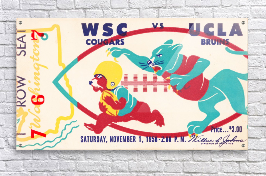 1958 UCLA vs. Washington State  Acrylic Print