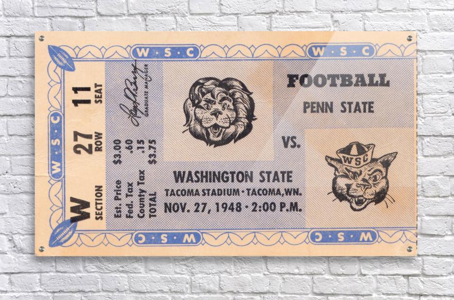 1948 Washington State vs. Penn State  Acrylic Print