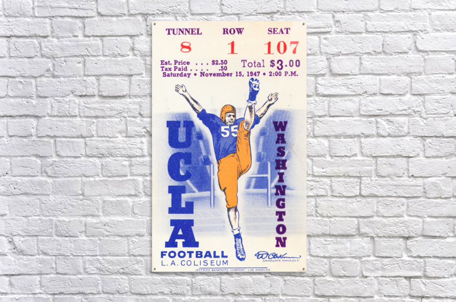1947 UCLA vs. Washington  Acrylic Print