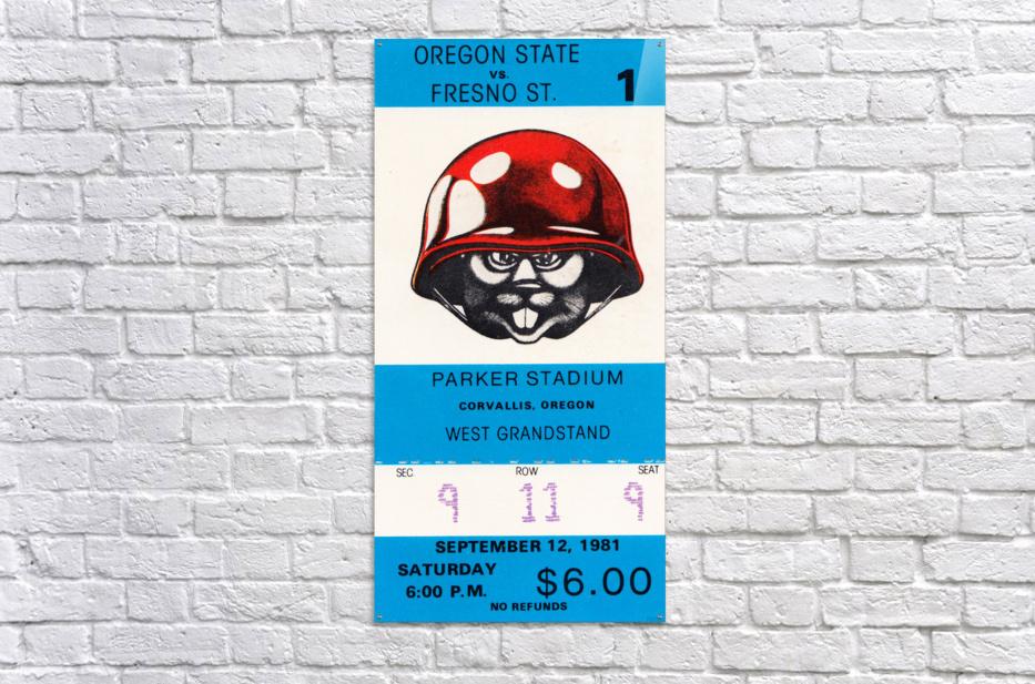 1981 Oregon State vs. Fresno State  Acrylic Print