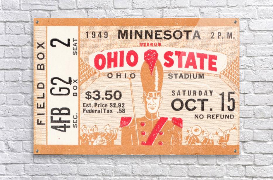 1949 Ohio State vs. Minnesota  Acrylic Print