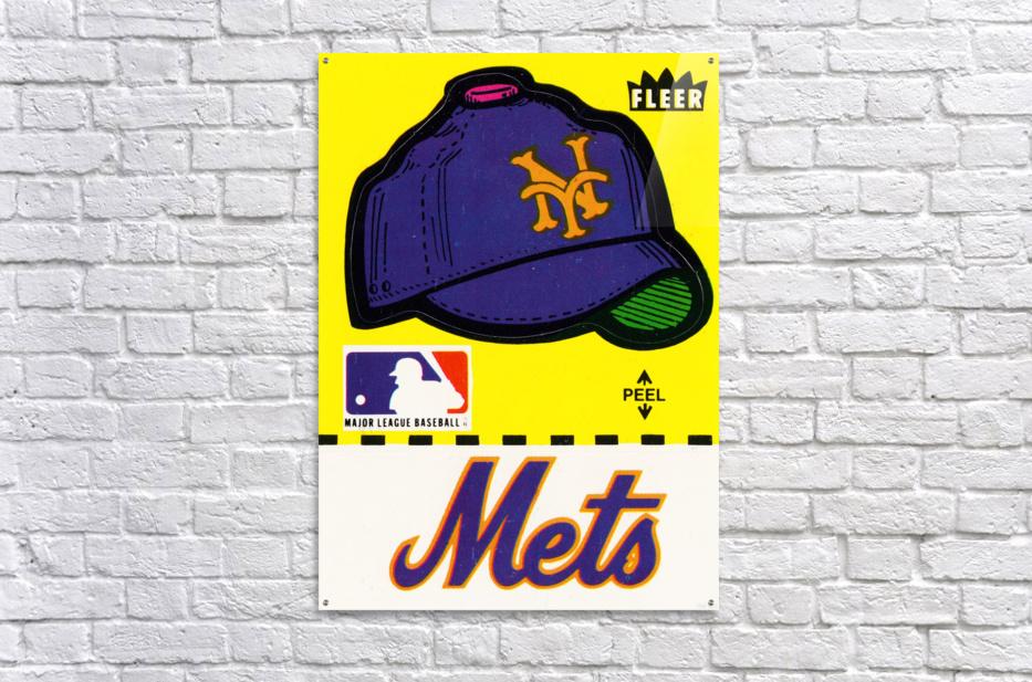 1981 New York Mets Fleer Decal Art  Acrylic Print