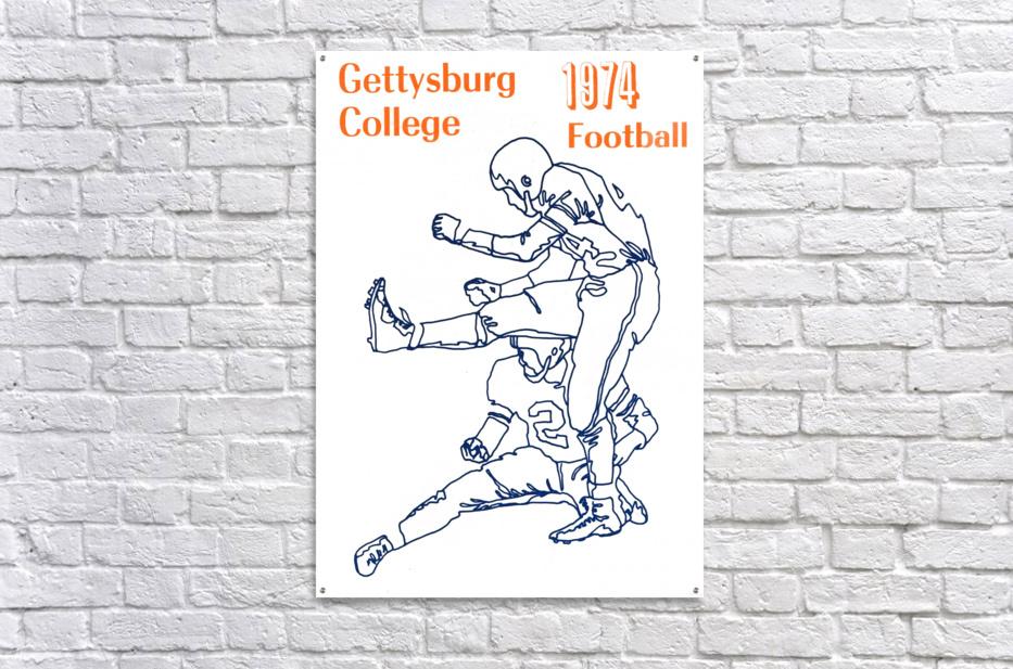 1974 Gettysburg College Football Art  Acrylic Print