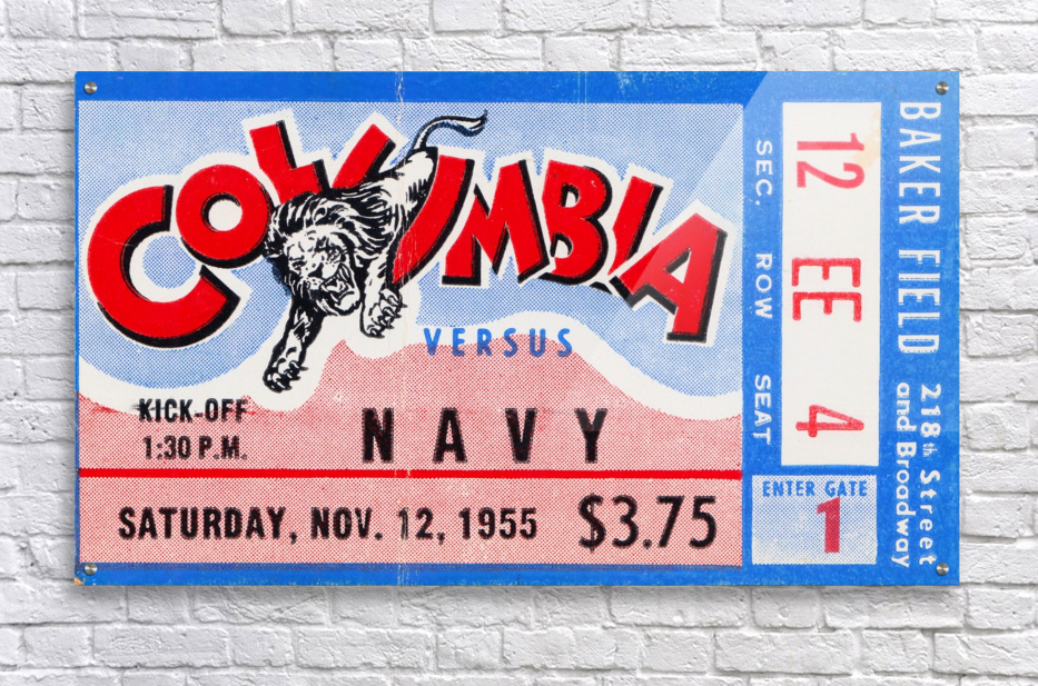 1955 Columbia vs. Navy  Acrylic Print