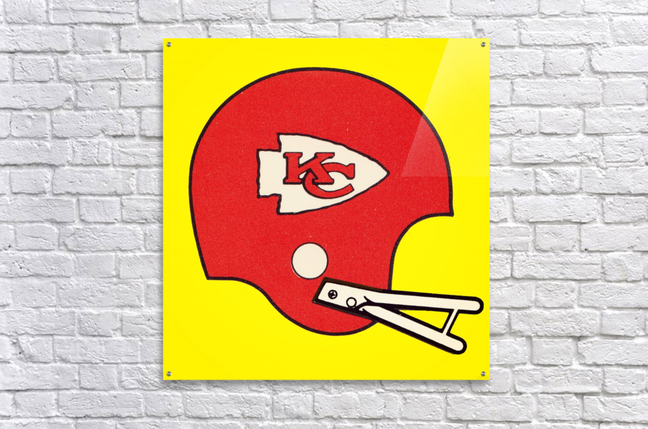1982 Kansas City Chiefs Helmet Art  Acrylic Print