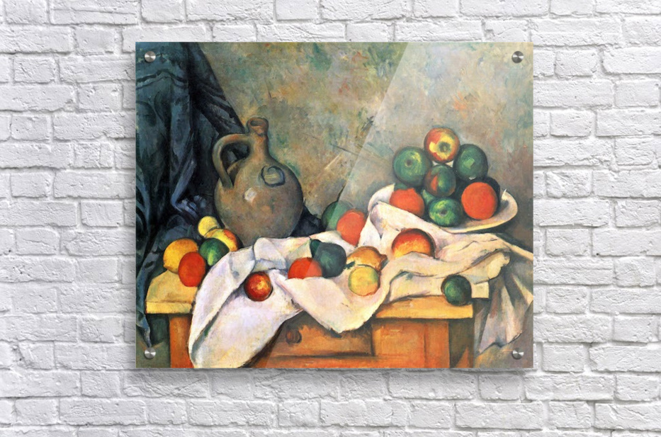Still life, drapery, pitcher and fruit bowl by Cezanne  Acrylic Print