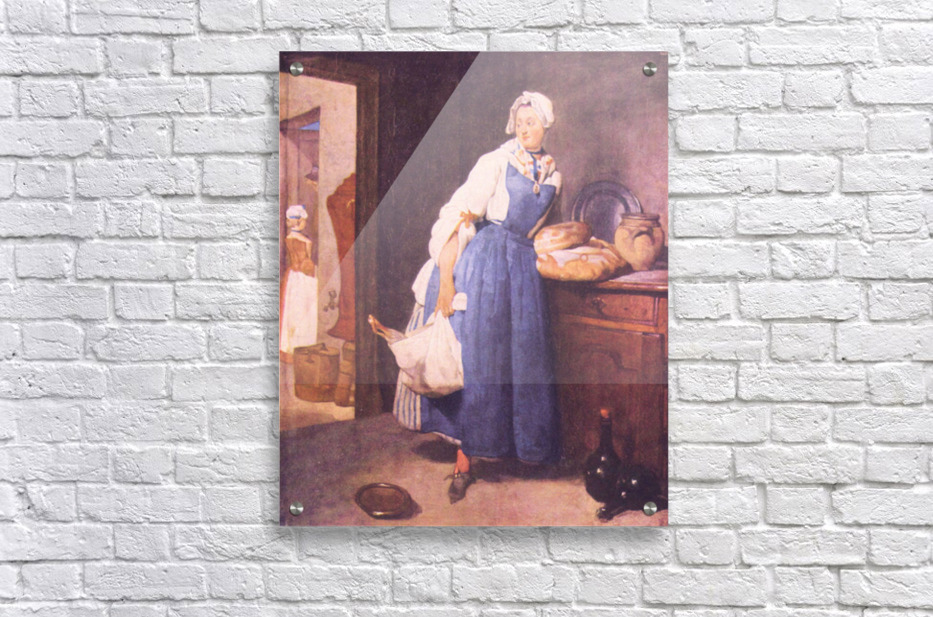 The bread by Jean Chardin  Acrylic Print