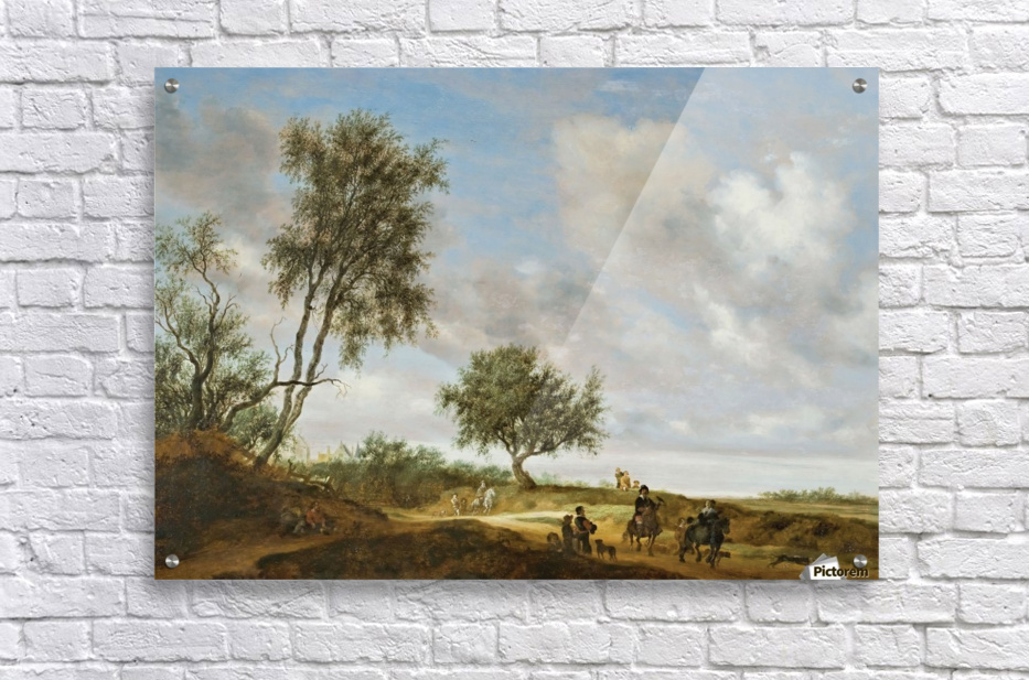 Landscape with a Hunting Party, 1648  Acrylic Print
