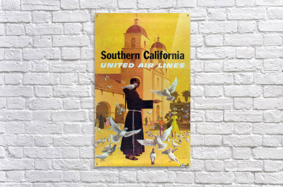 United Air Lines Southern California Monk  Acrylic Print
