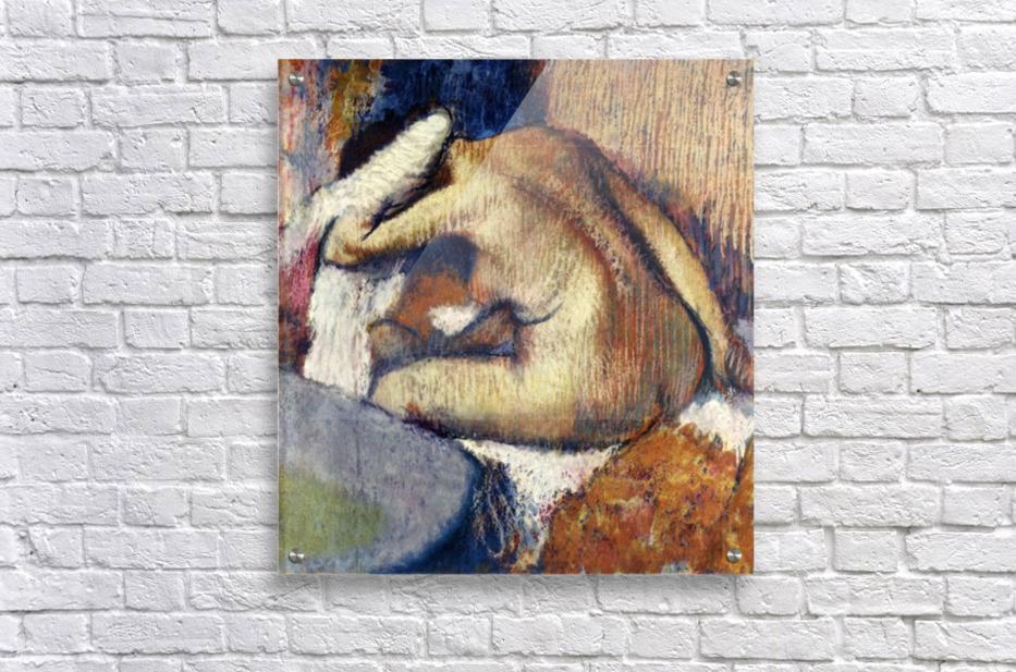Woman drying hair by Degas  Acrylic Print