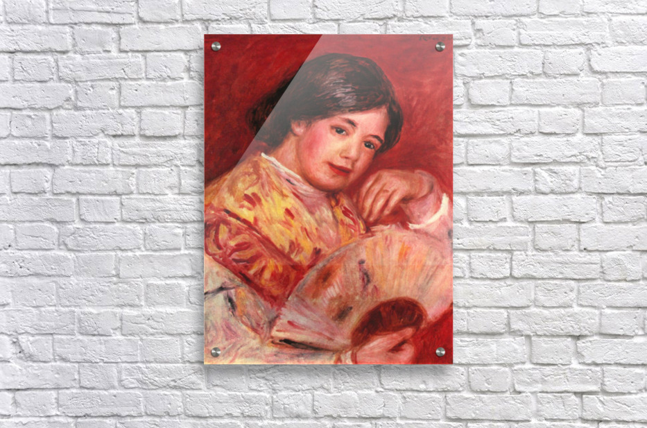 Young girl with fan by Renoir  Acrylic Print