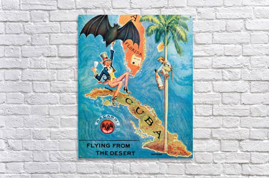 Visit Cupa vintage travel poster  Acrylic Print