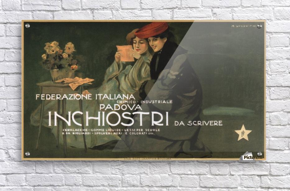 Federazione Italiana Chimico Industriale Padova Inchiostri Da Scrivere Poster  Acrylic Print