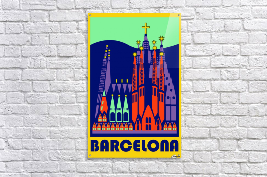 Barcelona travel poster  Acrylic Print