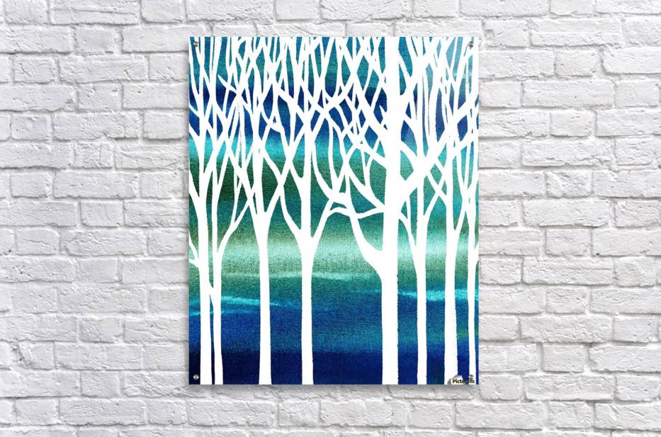 Blue Teal Forest   Acrylic Print