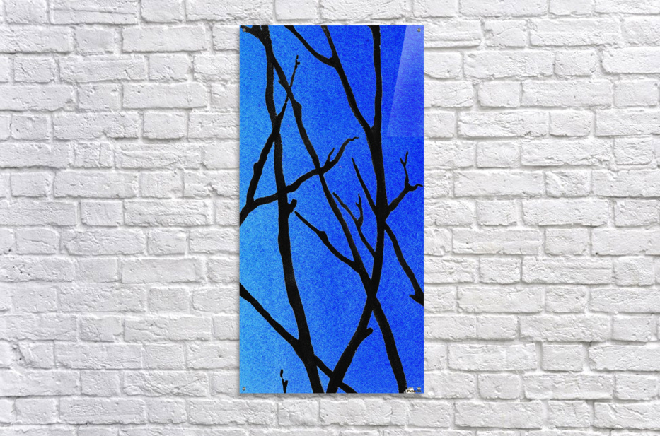 Ultramarine Forest Winter Blues III  Acrylic Print