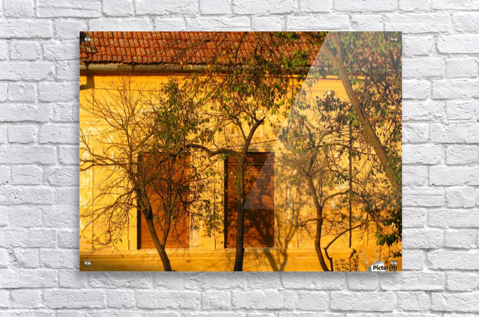 Autumn day in old town Varias  Acrylic Print