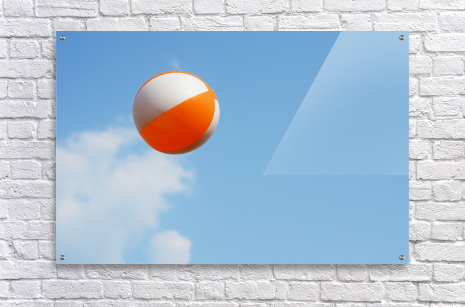 Beach ball on top of cloud  Acrylic Print