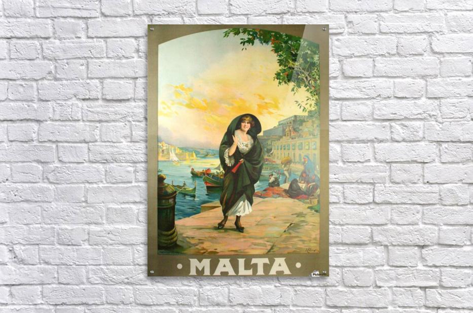 Original travel poster for Malta in 1900  Acrylic Print