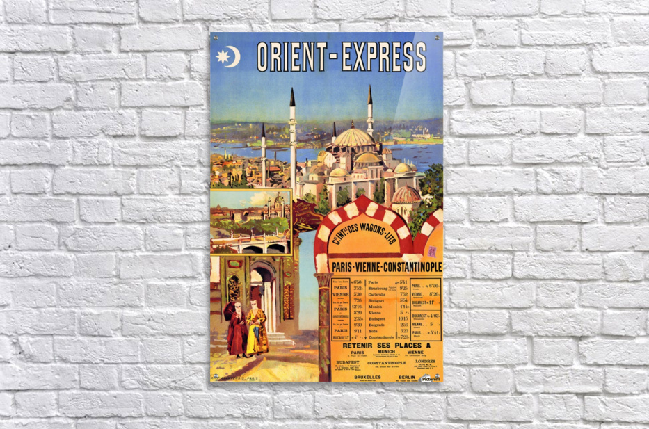 1891 Vintage Travel Poster Orient Express Ochoa y Madrazo  Acrylic Print